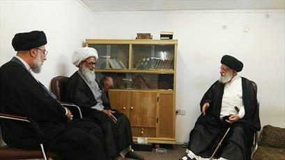 امام جماعت مسجد سهله با آیت الله العظمی بشیر نجفی دیدار کرد