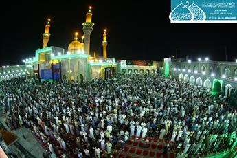 مراسم شب ۲۳ ماه مبارک رمضان در حرم مطهر کاظمین(ع) برگزار شد+تصاویر