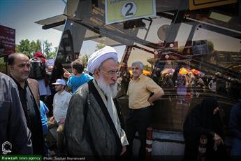 تصاویر/ حضور روحانیون تهرانی در راهپیمایی روز جهانی قدس