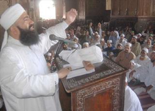 در چهارمین مسجد بزرگ جهان تجمع حمایت از قدس برگزار شد