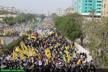 تصاویر/ راهپیمایی روز جهانی قدس در کراچی پاکستان