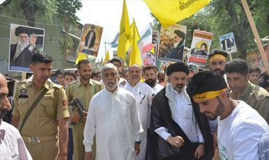 راهپیمایی روز قدس در شهرهای مختلف کشمیر برگزار شد +تصاویر