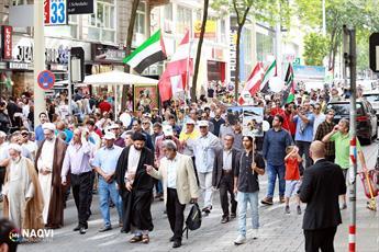 تصاویر رسیده از راهپیمایی روز قدس در اتریش