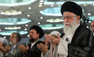 نماز عید فطر به امامت امام خامنهای اقامه شد
