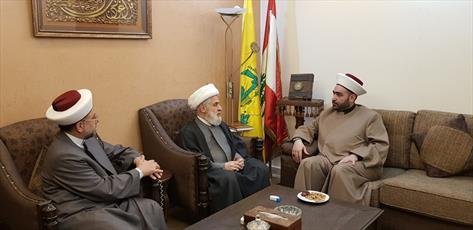 شیخ قطان و شيخ عبد الرزاق با معاون دبیر کل حزب الله دیدار کردند