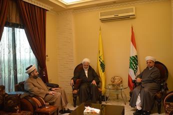 روحانیون اهل سنت لبنان با عضو شورای سیاسی حزب الله دیدار کردند