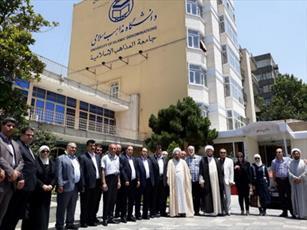اساتید و رؤسای دانشگاه های سوریه از دانشگاه مذاهب  بازدید کردند+ عکس