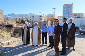 تصاویر/ بازدید  معاون منابع انسانی و پشتیبانی حوزه های علمیه از پروژه حوزه جامع ایلام