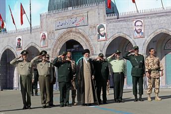 تصاویر/ حضور فرمانده کل قوا در مراسم دانشآموختگی دانشجویان دانشگاه امام حسین (ع)