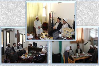 بازدید مسئول دفترامور موقوفات  و منابع پایدار از مدارس علمیه قم