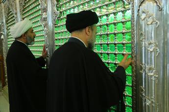 تصاویر/ بازدید رئیس اوقاف شیعیان عراق از آستان مقدس عسکریین(ع)