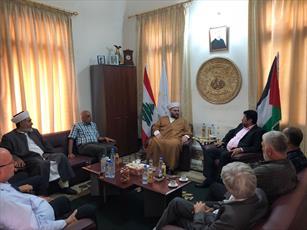 جمعی از جنبش انصار الله با  دبیرکل جنبش امت لبنان دیدار کردند