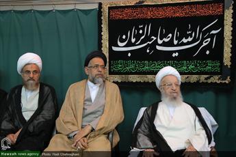 تصاویر/ مراسم سوگواری شهادت صادق آل محمد در بیوت مراجع و علما