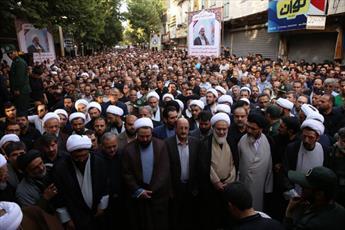 وداع مردم قدرشناس شهرستان الوند با امام جمعه فقید+ عکس