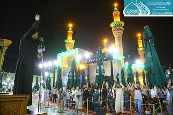 مراسم عزاداری امام صادق(ع) در حرم امامین کاظمین(ع) برگزار شد+تصاویر