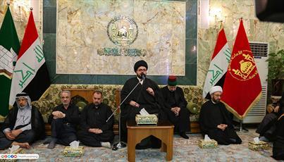 زائران حرم سید الشهدا (ع) در عزای ششمین امام خود گریستند+ تصاویر