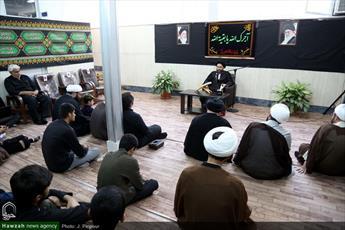 تصاویر/ مراسم عزاداری شهادت امام صادق(ع) در مدرسه عالی انوار طاها
