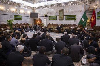مراسم شهادت عالم آل محمد(ص) در حرم حضرت عباس(ع) برگزار شد+ تصاویر