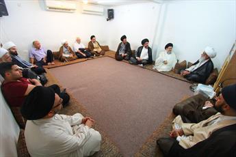 اعضای مجمع عالی تفسیر قرآن حوزه با آیتاللهالعظمی بشیر نجفی دیدار کردند