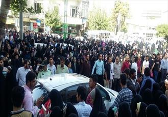 خیابان های اطراف حسینیه شهید همت مملو از بانوان محجبه/ خانواده مسیح علی نژاد: شرمنده رهبری و مردمیم