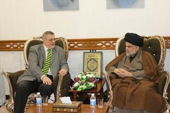 نماینده سازمان ملل با مقتدی صدر پیرامون تشکیل دولت گفتگو کرد