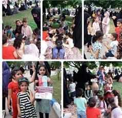 برپایی غرفه پاسخگویی به احکام در پارک «مادر» نکا