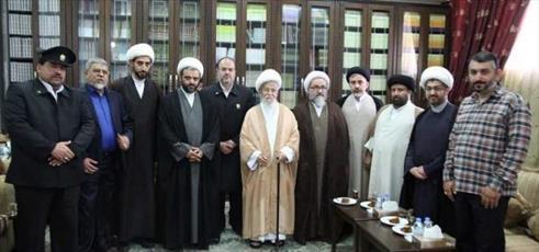 هیئتی از آستان قدس رضوی با آیت الله نابلسی از علمای لبنان دیدار کرد