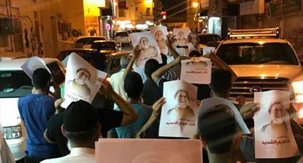 مردم بحرین برای اعلام همبستگی با آیت الله عیسی قاسم راهپیمایی کردند