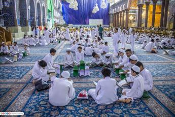 تصاویر/ مدرسه بزرگ قرآنی کربلا در حرم سیدالشهدا(ع)