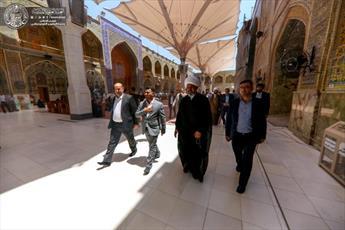تولیت آستان مقدس عسکری به زیارت حرم امیر المؤمنین (ع) مشرف شد+ تصاویر