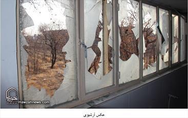 حمله اغتشاشگران به حوزه علمیه اشتهارد