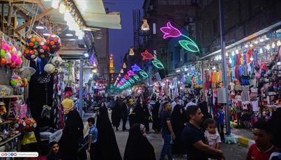 تصاویر/ خیابان حضرت صاحب الزمان (عج)  کربلا بهسازی و آراسته شد
