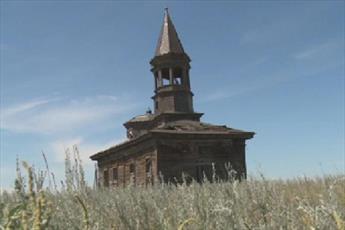 مسجد چوبی ۱۱۱ ساله در قزاقستان، در معرض فروریزی قرار دارد