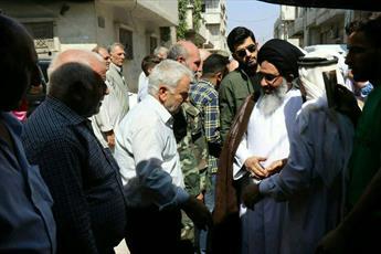 نماینده رهبر انقلاب در سوریه  با علما و مردم حمص دیدار کرد