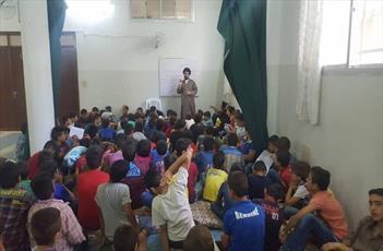 دوره فرهنگی امام حسین(ع) برای نوجوانان سوریه برگزار شد+تصاویر
