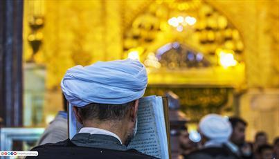 حال و هوای دعا در حرم حضرت ابا عبد الله الحسین (علیه السلام)+ تصاوير