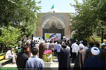 تصاویر/ تجمع طلاب مدارس علمیه تهران با عنوان «روحانیت صدای مردم»