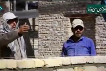 فیلم/ تبحر یک روحانی روستا در کارهای عمرانی