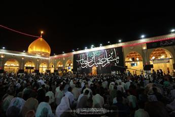 مراسم شهادت حضرت مسلم بن عقیل(ع) در مسجد کوفه برگزار شد+ تصاویر