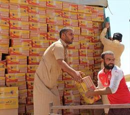 ارسال کمک های بشر دوستانه آیت الله  العظمی سیستانی به مناطق تازه آزاد شده از داعش +تصاویر