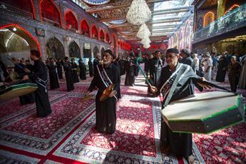 تصاویر/  بین الحرمین کربلا در شهادت امام باقر(ع) غرق در ماتم و عزا شد