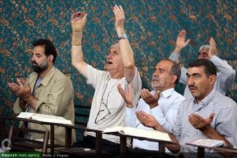 تصاویر/ مراسم پرفیض دعای عرفه در مصلای قم