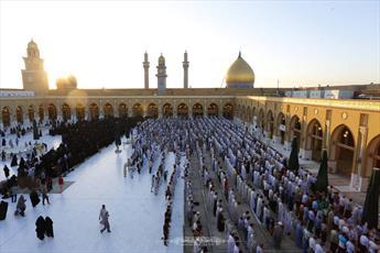 نماز عید قربان در مسجد کوفه برگزار شد+ تصاویر