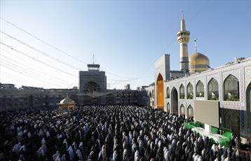 نماز باشکوه عید قربان در حرم رضوی اقامه شد
