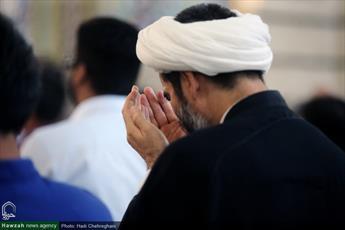 تصاویر/ اقامه نماز عید قربان در حرم کریمه اهل بیت(ع)