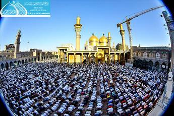 تصاویر/ برپایی زیارت عرفه و نماز عید قربان در حرم امامین کاظمین(علیه السلام)