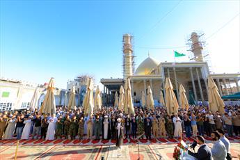 تصاویر/ مراسم روز عرفه و نماز عید قربان با حضور زائرین در حرم امامین عسکریین(ع)
