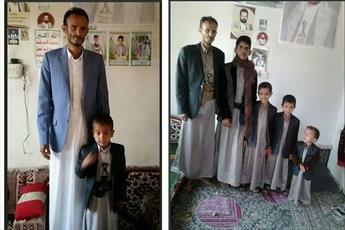 تصویری غم انگیز از خانواده یمنی