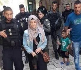 بانوی فلسطینی و دخترش حق ورود به مسجدالاقصی را ندارند