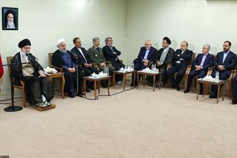 تصاویر/ دیدار رئیسجمهور و اعضای هیئت دولت با رهبر انقلاب